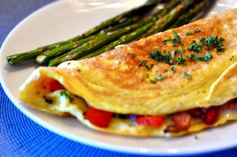 Omelett med skinka