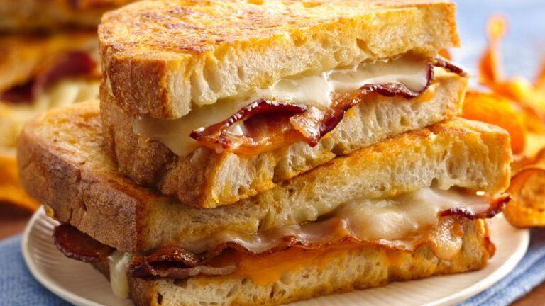 Våfflad sandwich